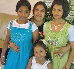 A picture of the cook, Sumaya, and her 3 lovely girls